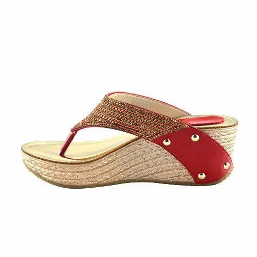 Ladies Heel Wedge Sandal, Size: 7-11
