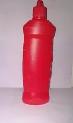Red Plastic Toilet Cleaner Bottle