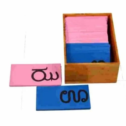 NEW Montessori Language Material Wooden Box for Sandpaper Letters