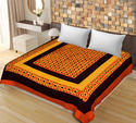 Multicolor New Patch Work Cotton Double Bedsheet