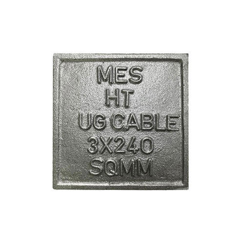 Square Type Cast Iron Cable Route Marker