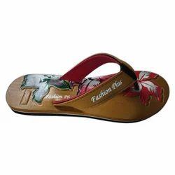Ladies Fashion Plus Rubber Printed Flip Flop Slipper, Size: 5 to 8