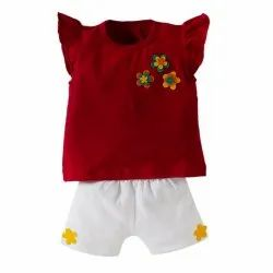 Kids Baby Girl Clothing Sets T-Shirt Tops Short Pants Clothes Set Casual Party Floral Dress