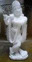 White Marble Hindu God Krishna Statue