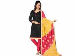 Chanderi Silk Unstitched Salwar Suit