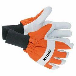 Asbestos Orange And White Heavy Duty Gloves
