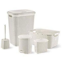 Hobby Life Plastic Rattan Bath Set Dowry, Quantity Per Pack: 5 Piece Per Carton, Packaging Type: Carton Box