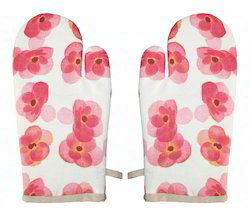 Flower Design Printed Glove