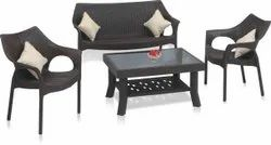 Modern Supreme Sofa Set And Vegas Table, For Office, Size: Contemporary