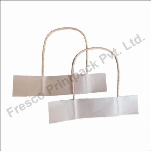 Fresco Twisted Paper Handle Paper Handle Brown, Packaging Type: Cartoon