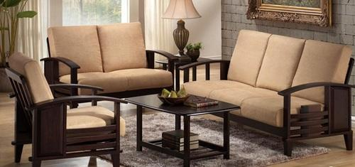 Cream Brown Branded Damro Sofa Set 3 2 1 Rs 45000 Pair
