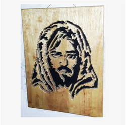 Public Figure Wooden Carving PF4