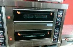 Stainless Steel And Galvanised 2.4 kW/hr Two Deck Oven, Capacity: 200kg