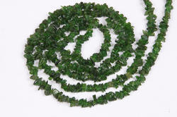 Green Chrome Diopside Uncut Tourmaline Chips Beads