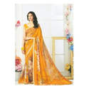 Wedding Printed Synthetic Saree