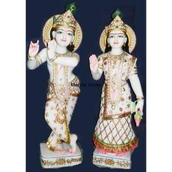 Marble Standing God Radha Krishna Statue