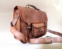 Genuine Leather Bag with Front Pocket
