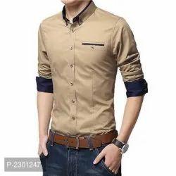 Men Cotton Plain Shirt