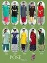Pose Vol -1 Party Wear Rayon With Designer Kurtis With Palazzo and Dupatta