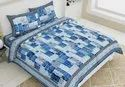 Cotton King Size Printed Double Bed Sheet