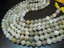 Golden Rutilated Round Plain Beads