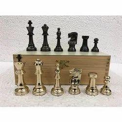 3.5 Antique Polish Brass International Chess Pieces