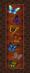 Butterfly Print Flush Door