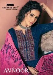 Avnoor By Shahnaz Arts Cotton Print With Embroidery Dress Materials