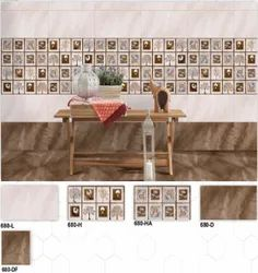 680 (L, H, HA, D, DF) Hexa Ceramic Digital Wall Tiles