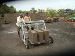 Fly Ash Bricks Moving Trolley