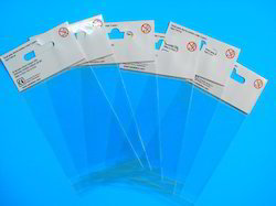 Transparent Poly Header Bags