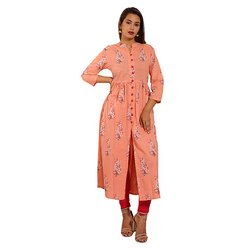 Casual Gathers Printed Kurti