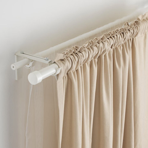 Aluminum White Designer Curtain Rod