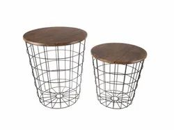 Luxury Metal Storage Basket