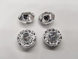 Plastic Silver Designer Button for Garments