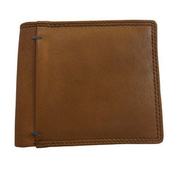 Genuine Leather Mens Designer Tan Leather Wallet
