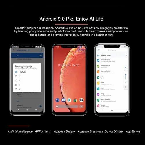OUKITEL C13 Pro, 2GB 16GB 64GB, 6 18 inch Dual SIM Android 9 0 Smartphone,  4G