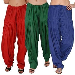 Pure Cotton Patiala Bottom For Womens/Ladies, Waist Size: Free