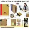 Eco Note Pad /Sticky Pad with Pen & Day Display H-808