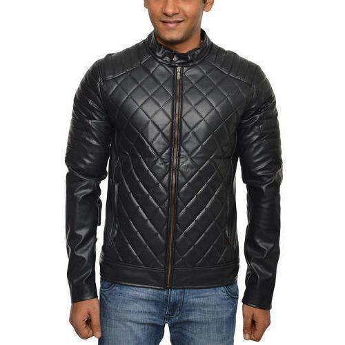 Mens Leather Biker Jacket Leather Motorbike Jacket