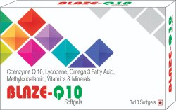 Coenzyme Q10, Lycopene, Omega3 Fatty Acid, Methylcobalamin, Vitamins & Minerals