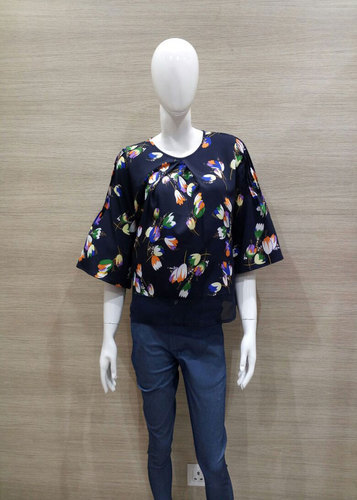 c055f75d9965 3/4th Sleeve Printed Floral Top, Rs 350 /piece, Smith Williams | ID ...