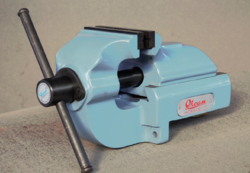 Cast Iron 5 Inch Width Orcan Rear Jaw Sliding Bench Vice, For Industrial, Warranty: 3 Years