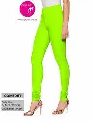 Churidar Plain Paircare -Comfort - Chudidar Leggings- 4 Way Stretchable - Lycra