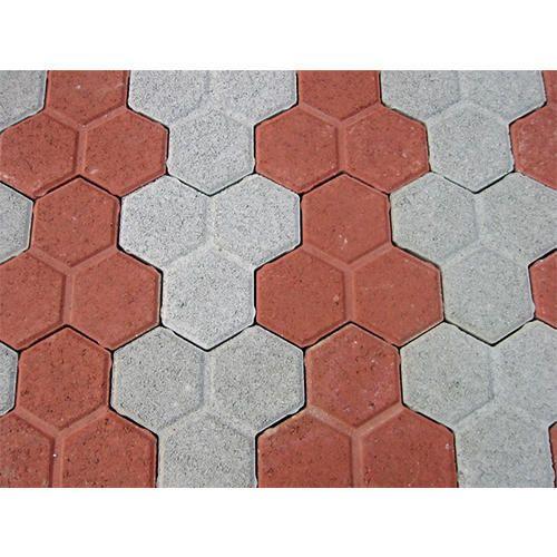 Red Grey Paver Interlocking Tiles