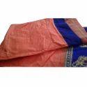 Ladies Chanderi Cotton Border Designed Plain Saree, Length: 6.3 M