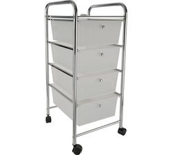 4 Drawer Chrome Trolley