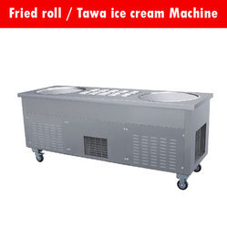 Double Pan Ice Cream Making Machine
