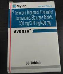 Avonza - Tenofovir Disoproxil Fumarate / Lamivudine / Efavirenz Tablets 300 Mg / 300 Mg / 400 Mg