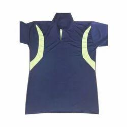 Men Blue And Light Green Sport T Shirt